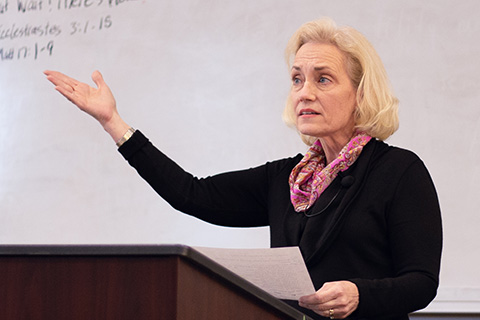 female professor teaching cta